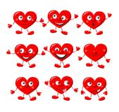 Funny red hearts Royalty Free Stock Images