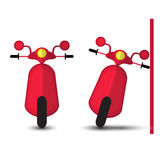 Funny Red Motobike.  Royalty Free Stock Photos