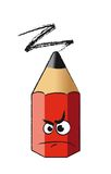 Funny red pencil stock illustration