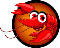 Funny red shrimp cartoon Stock Photography