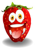 Funny red strawberry face Stock Photo