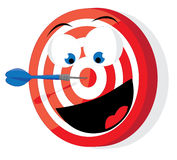 Funny red and white darts target Royalty Free Stock Images