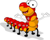 Funny red worm cartoon Royalty Free Stock Photos