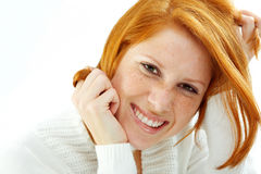 Funny redhead Stock Photo