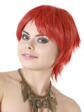 Funny redhead girl isolated Royalty Free Stock Photography