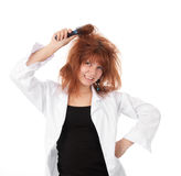 Funny redhead woman Royalty Free Stock Image