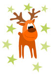 Funny rein deer. Illustration for christmas time Royalty Free Stock Image