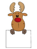 Funny reindeer. Royalty Free Stock Image