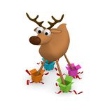 Funny reindeer Stock Photography
