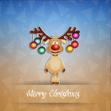 Funny reindeer with Christmas decorations Stock Photo