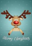 Funny reindeer for Christmas. Illustration of Funny reindeer for Christmas Stock Photography