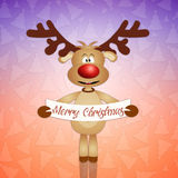 Funny reindeer for Christmas Royalty Free Stock Photography
