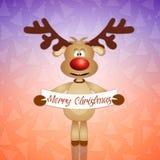 Funny reindeer for Christmas. Illustration of Funny reindeer for Christmas Royalty Free Stock Photography