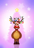 Funny reindeer at Christmas Royalty Free Stock Images