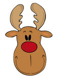 Funny reindeer face. Royalty Free Stock Photos