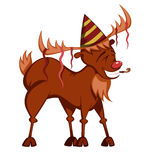 Funny reindeer vector Royalty Free Stock Images