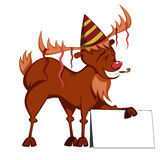Funny reindeer vector Royalty Free Stock Photos