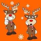 Funny reindeer xmas cartoon emotions set10 Royalty Free Stock Photography