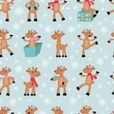 Funny reindeers background Stock Image