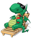 Funny relaxation dragon. Illustration of a funny relaxation dragon Royalty Free Stock Photo