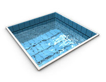 Funny representation of a swiming pool Royalty Free Stock Image