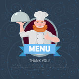 Funny restaurant menu Royalty Free Stock Images