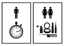 Funny Restroom Sign Stock Photography