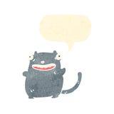Funny retro cartoon cat with speech bubble Royalty Free Stock Photos