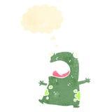 Funny retro cartoon frog Royalty Free Stock Photography