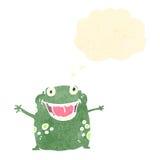 Funny retro cartoon frog Stock Photo