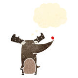 Funny retro cartoon reindeer Stock Photography