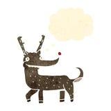 Funny retro cartoon reindeer Stock Photos