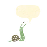 Funny retro cartoon snail Royalty Free Stock Photos