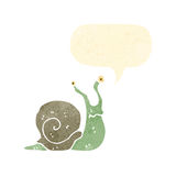 Funny retro cartoon snail Royalty Free Stock Images