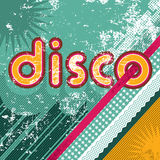 Funny retro disco background Stock Photography