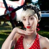 Funny retro girl Royalty Free Stock Photo