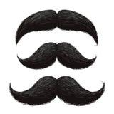 Funny retro hair mustaches vector set Stock Image