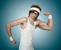 Funny retro nerd Royalty Free Stock Photography