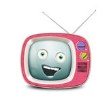 Funny retro TV Stock Photo