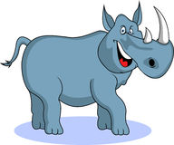 Funny rhino cartoon Stock Photos
