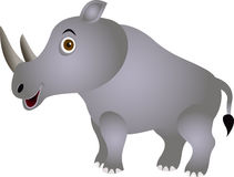 Funny rhino cartoon Royalty Free Stock Image