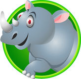 Funny Rhino cartoon Royalty Free Stock Photos