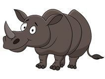 Funny Rhino cartoon Stock Images