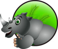 Funny rhino cartoon Royalty Free Stock Photography