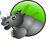 Funny rhino cartoon Royalty Free Stock Photography