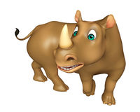 Funny  Rhino cartoon character Royalty Free Stock Photo