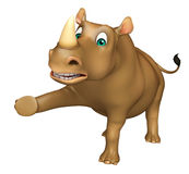 Funny  Rhino cartoon character Royalty Free Stock Images