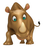 Funny Rhino cartoon character Stock Photography