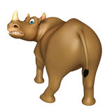 Funny  Rhino cartoon character Stock Photos