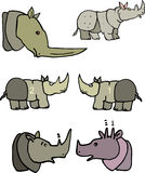 Funny rhinos Stock Image